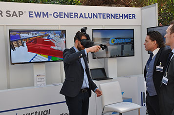 IGZ Live Demo VR-Brille am Infostand
