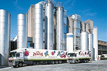 IGZ references: Zentis truck in front of production site
