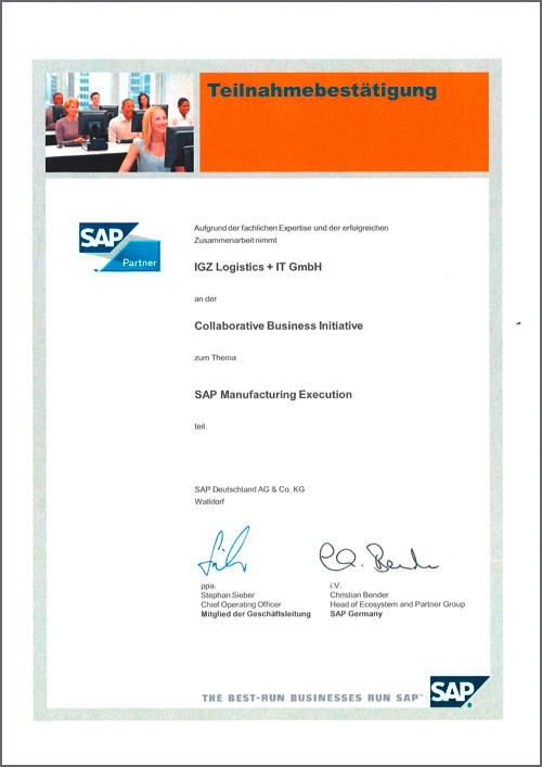 Collaborative Business Initiative SAP Manufacturing