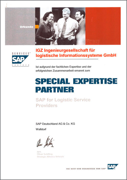 Special Expertise Partner SAP for Logistics Service Providers
