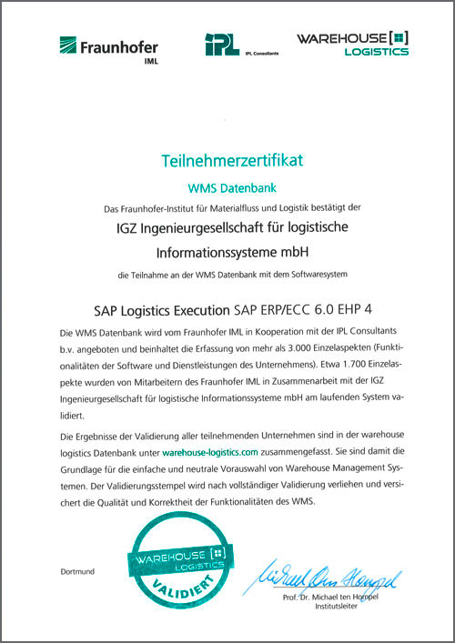 WMS Datenbanken SAP Extended Warehouse-Management MFS EWM 7.0