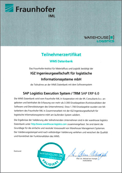 WMS Datenbanken SAP Logistics Execution System TRM SAP ERP 6.0