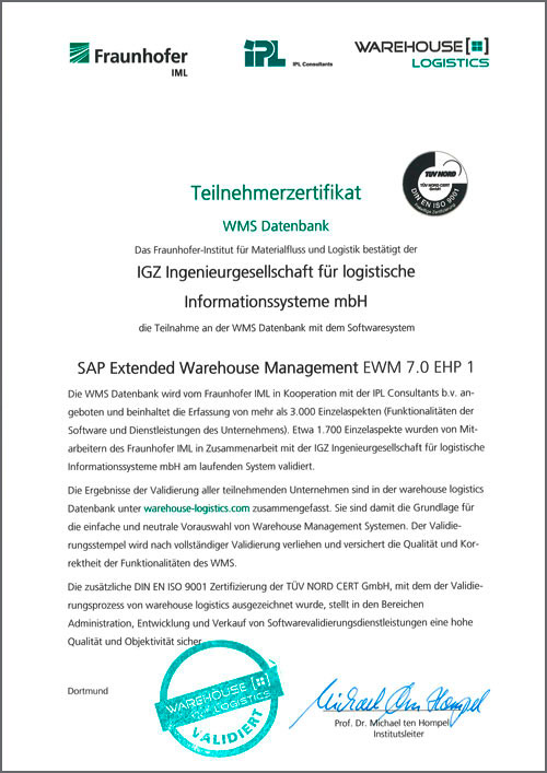 WMS Datenbanken SAP Extended Warehouse Management EWM 7.0