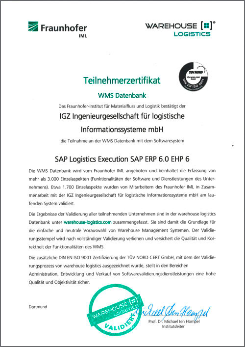 WMS Datenbank SAP Logistics Execution SAP ERP 6.0
